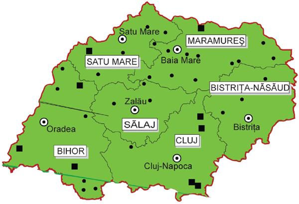 Harta Regiunii De Nord Vest Centrul Naţional De Informare Si